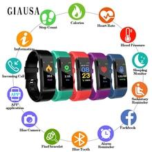 Купить с кэшбэком ID115Plus Smart Bracelet Wristband Heart Rate Test Waterproof Bluetooth Bracelet Step Counting Sleep Monitoring Smart Watch M3S