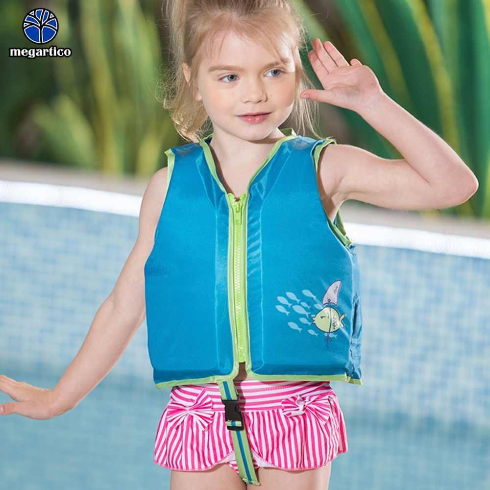 Megartico cuộc sống áo khoác cho trẻ em Màu Xanh Trẻ Em Huấn Luyện Viên Bơi Lội Vest Cho 20-50 lbs Cá Cuộc Sống Tiết Kiệm Vest Bơi float Vest Toddler