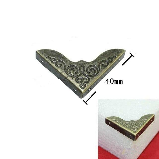 40mm Gedruckt bronze buch Holz corner box ecke Farbe seiten der ...