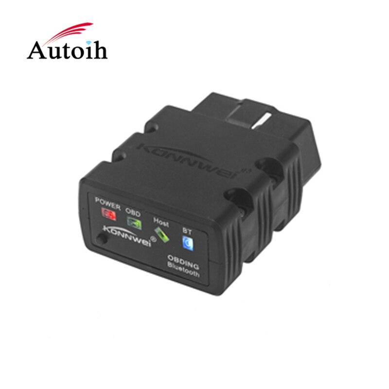 Mini ELM327 OBD2 coche Bluetooth konnwei KW902 Elm 327 OBDII OBD scan
