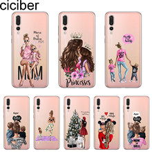 ciciber For Mate 20 10 Lite Pro X 2017 For Huawei P 20 10 9 Pro Lite Plus Phone Case Soft TPU Cover Coque Girls Baby Mom Girl(China)