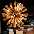 Nordic Loft  Wood Pendant Light Modern LED Suspension Luminaire Lamparas Colgantes Light Shade For Parlor Living Room Restaurant