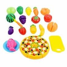 24 шт./компл. пластиковые фруктов растительные кухня резки toys раннее развитие и образование игрушка для новорожденных детей дети