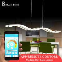 Große Moderne Led Anhänger Licht Für esszimmer Küche wohnzimmer Hängen Lampe 97cm 38w Acryl Anhänger Lampe decke Leuchten