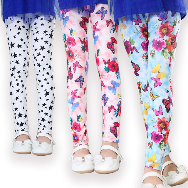 a17f6b75ff7ae Ywstt new arrive printing Flower girls leggings toddler classic leggings 2-14Ybaby  girls leggings kids leggings girl pants