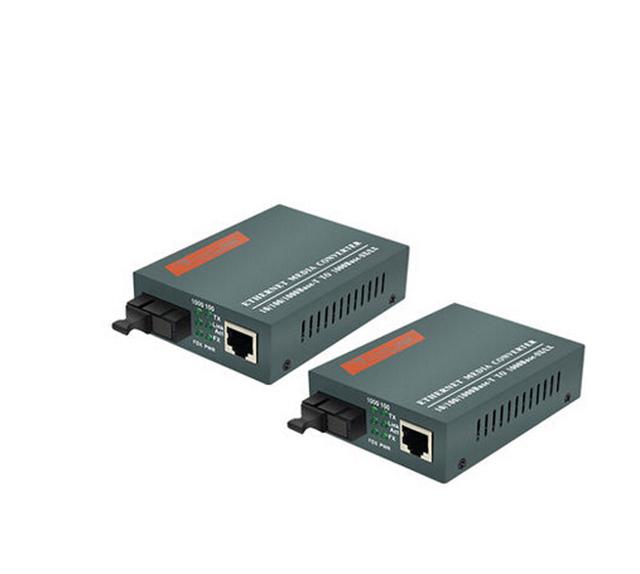 Fibra Conversor de Mídia Óptica 1000 Mbps porta SC SM 25 km HTB-GS-03 AB 1 Par Livre shippping