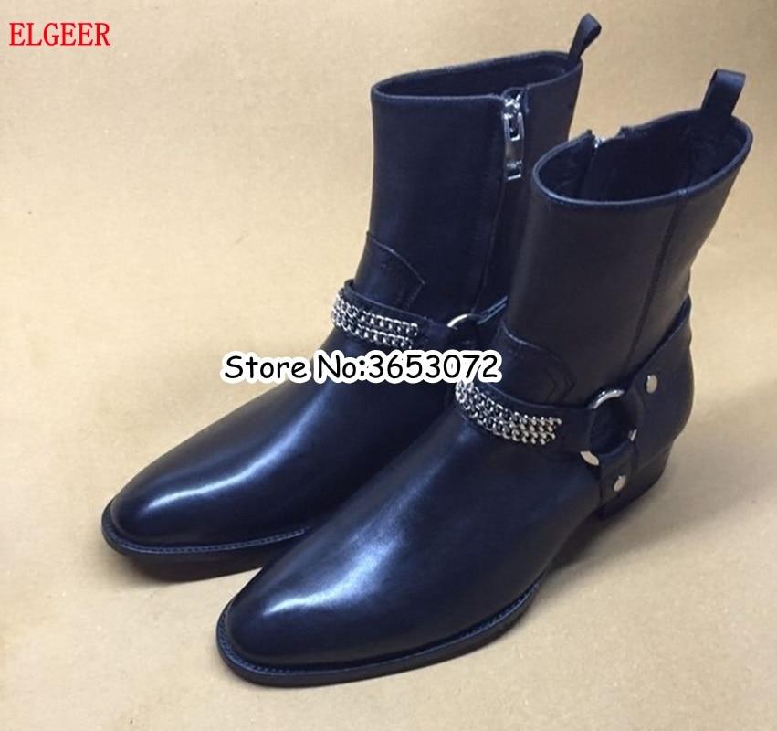 Ručně vyrobené kožené suede černé hnědé pánské boty Chelsea Volný ... e495783ea1