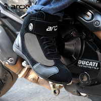 ARCX Xe Máy Riding Da Breathable Boots Motocross Off road Racing Sport Bảo Vệ Biker bots Shoes for Men & Women Mùa Đông