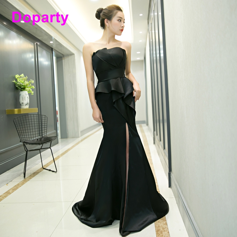 Doparty Elegant formal women long floor length long backless mother daughter matching evening dresses for wedding