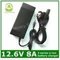 12.6 V8A / 12.6 V 8A inteligencia de litio li ion cargador para 3 Series 12 V batería de polímero de litio de buena calidad