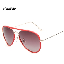 COOLSIR Hot 2017 New Fashion Style Men And Women General UV400 Metal Polarized Sunglasses Driving 7 Colors P3025jm
