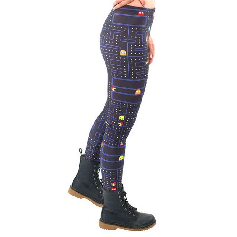 17b0224c4837d Black Milk New Maze Print Pacman Women Leggings fitness Skinny Long leggins  women pant KDK1394-in Leggings from Women's Clothing on Aliexpress.com |  Alibaba ...