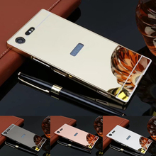 US $2.73 15% OFF|Luxury Rose Gold Aluminum plating Mirror case For Sony Xperia XZ Premium Metal Frame Back Cover For Sony Xperia XZ-in Fitted Cases from Cellphones & Telecommunications on Aliexpress.com | Alibaba Group