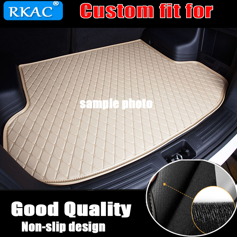 RKAC custom car trunk mat for MG All Models MG ZT T ZR ZT TF car accessories custom cargo liner leather waterproof leather