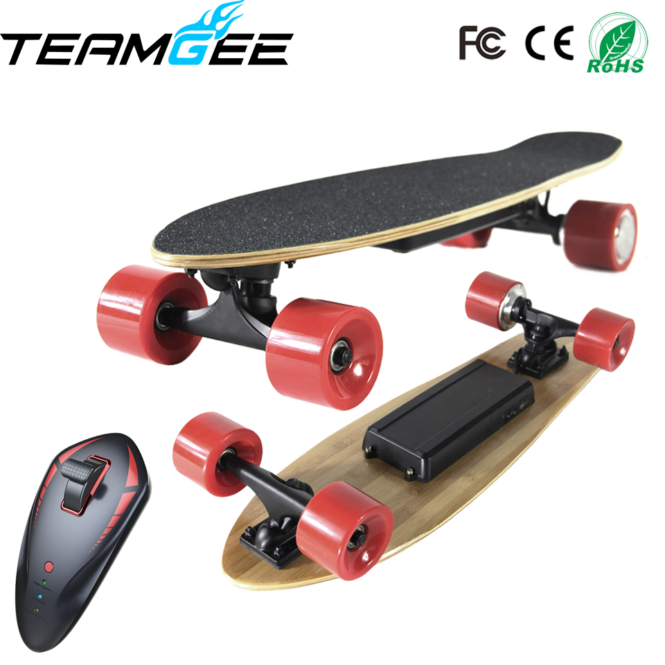 Portable Single Motor Electric Moterized Longboard 4 Wheels Electric Skateboards with Wireless Remote Controller Dropshipping electric skateboard hoverboard longboard diy single drive remote skatebord kit with hub motor wheels pu wheels and trucks