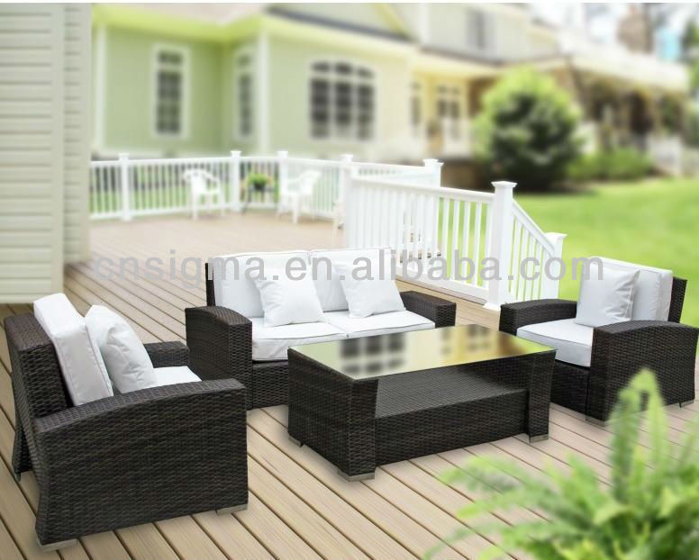 2014 Jardin Garden Furniture Modern Outdoor Style Wicker Lounge Sofa  Set(China (Mainland)
