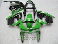 Горячая Распродажа пластик обтекатель комплект для Kawasaki ZX9R 98 99 зелено черные Обтекатели набор ниндзя zx9R 1998 1999 XG12