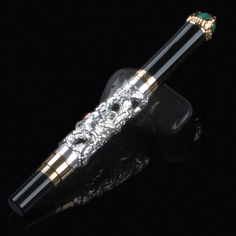 Jinhao luxury 3D PEN Dragon Pen engraving high quality best metal roller ball pens for writing refill best designer gel pens jinhao dragon pen luxury gold chinese emperor style dragon play roller ball pen best designer ballpoint gold pen