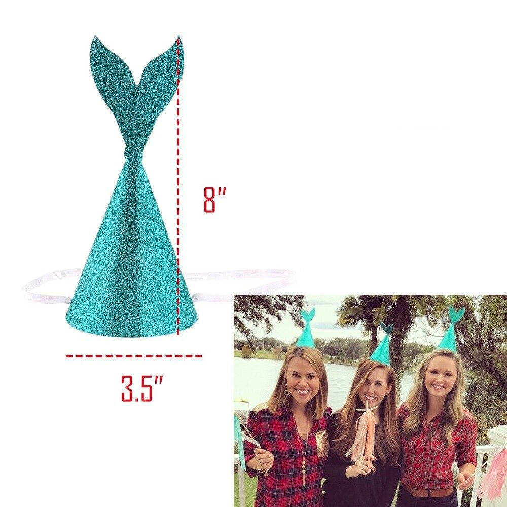 10/PCS Glittering mermaid tail party hat birthday gift mermaid hat festival dress hat