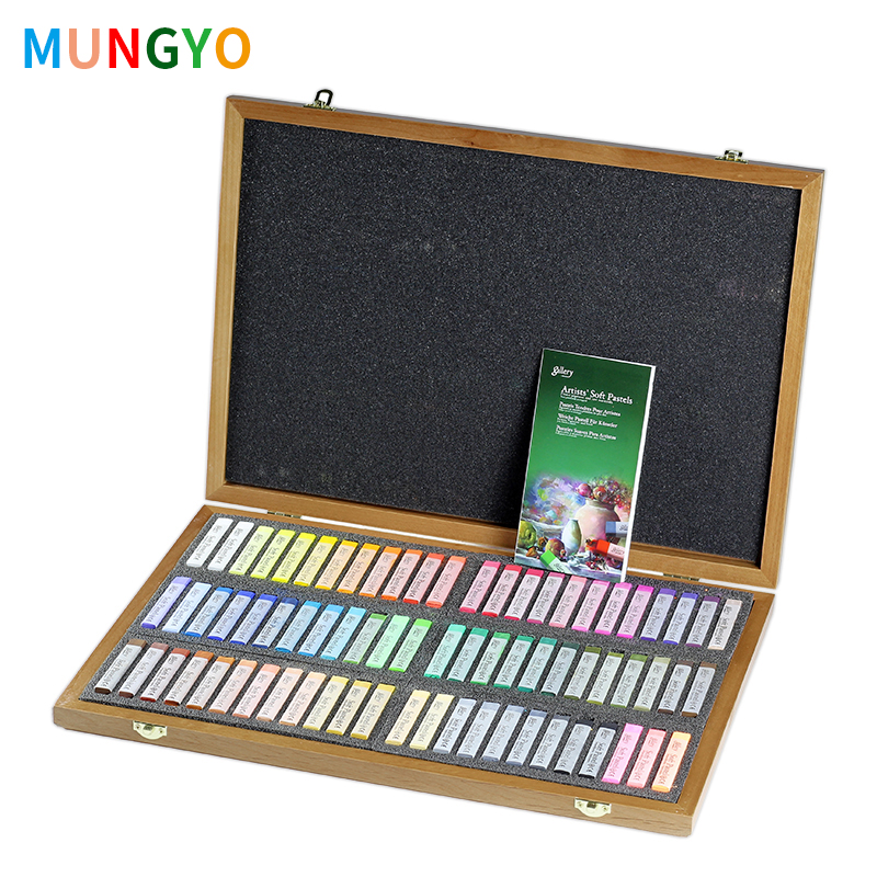 Mungyo Master Soft Pastel 72 Colors Wooden Box Painting Crayons Art Drawing Set Chalk Color Crayon Brush Stationery For ArtistMungyo Master Soft Pastel 72 Colors Wooden Box Painting Crayons Art Drawing Set Chalk Color Crayon Brush Stationery For Artist