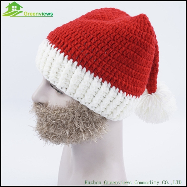 3pcspack Big Beard Hat Christmas Party Kint Hat Christmas Hat Free