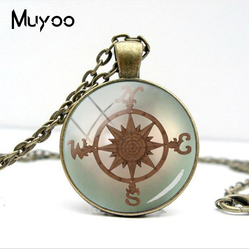 HTB1 Pb2VYPpK1RjSZFFq6y5PpXa3 - Vintage Old Compass Rose Steampunk Style Glass Cabochon Pendant Necklaces Glass Color Compass Jewelry Nacklace Gifts