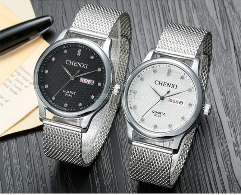Chenxi mannen quartz horloges display klok decoratie dragen horloges