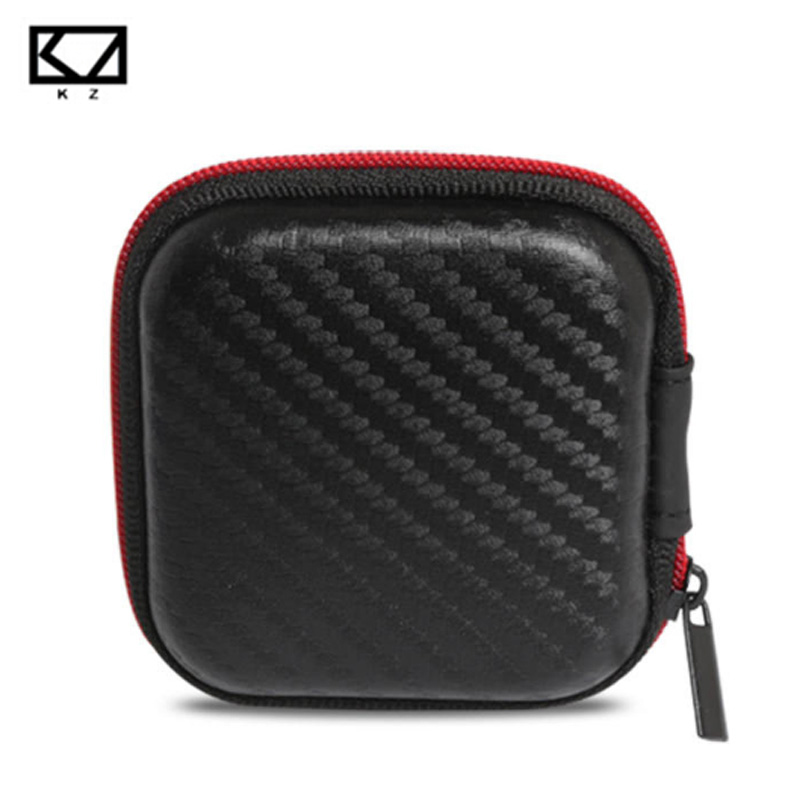 KZ Earphone box Fiber Zipper Headphone Earphone Earbuds Hard case Storage Carrying Pouch bag SD Card Hold box portable Carry Bag box aluminium tool case magic props file storage hard carry carrying box tool for hand gun locking pistol 46 35 15cm