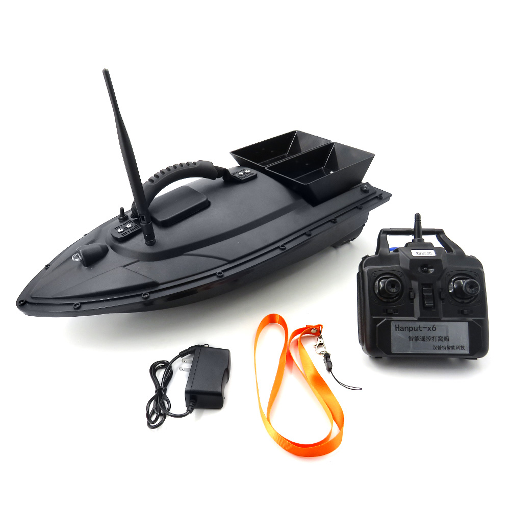 Flytec 2015-5 Intelligent Double Bait Remote Control Fishing Boat RC Double Body Throw Feed Dipping RC Bait Boat Toy