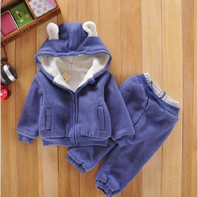 Free shipping winter children clothing set two pieces jacket+pants boy/girl leisure sports suit