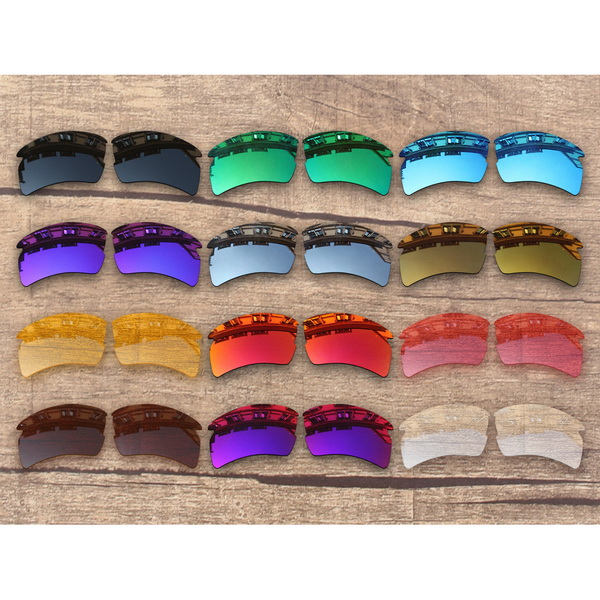 Vonxyz 20+ Color Choices Polarized Replacement Lenses & Ear Socks & Nose Pads For-Oakley Flak 2.0 XL Frame