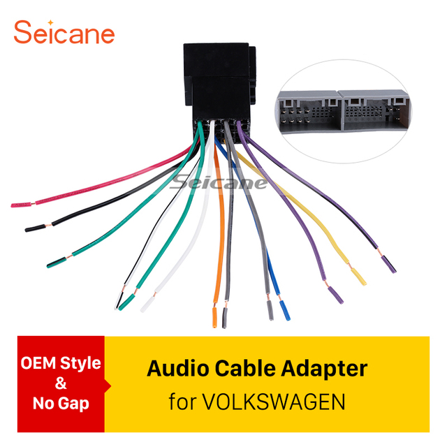 seicane car wiring harness plug adapter audio sound cable for vw rh aliexpress com