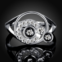 Fashion Jewelry White Gold Ring Size 7 8 LKN18KRGPR742 Wholesale Women Rings Wedding Party Gift