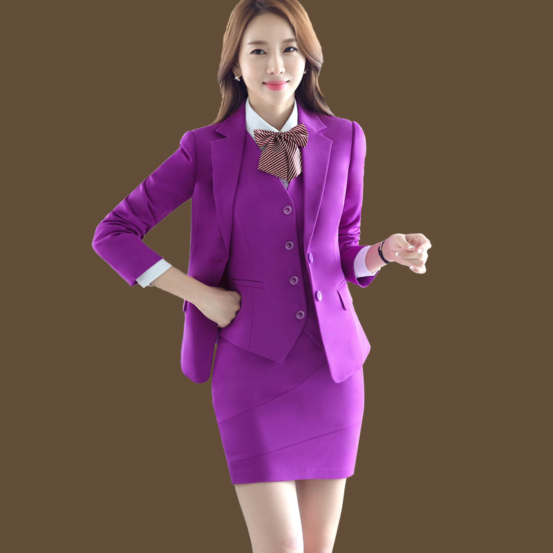 Formal Office Lady Blazers Women Black Blue Slim Fit Long Sleeve Suit Casual Autumn Winter Coats Fashion Work Suits Woman Tops Reliable Performance Suits & Sets Back To Search Resultswomen's Clothing