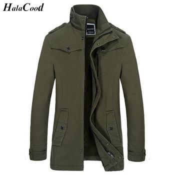 Hot Winter Men's Cotton Jacket Brand Clothing Man Army Green Thick Jackets Coats Zipper Fashion Fake Pocket Design Male Jackets