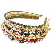 7PCS Girls Women Jewel Headbands Bejeweled Sparkle Set