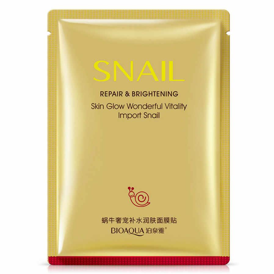 1 pièces nouveau masque Facial plante cosmétique soins de la peau beauté hydratant contrôle de l'huile point noir escargot extrait cristal hydratant masque