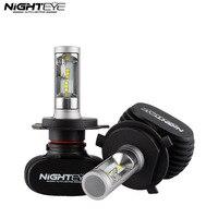 Nighteye H4 9003 HB2 50 W 8000LM 6500 K CSP LED Araba far Dönüşüm Kiti Sis Lambası Ampul DRL Oto Araba Led işıklar