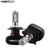 NIGHTEYE H4 9003 HB2 50W 8000LM 6500K CSP LED Car Headlight Conversion Kit Fog Lamp Bulb