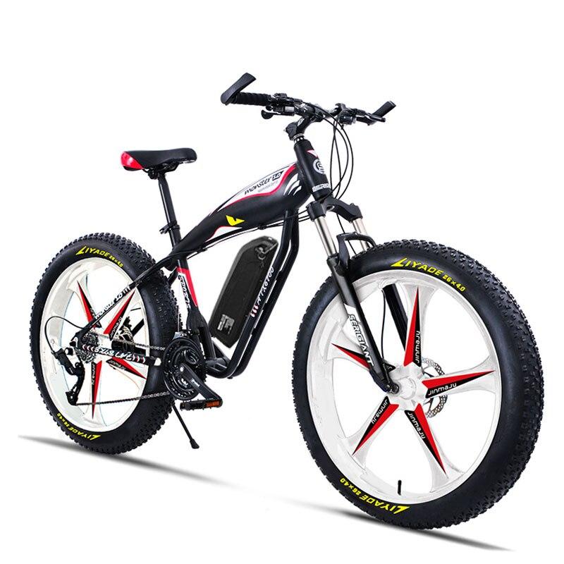 Bicicleta eléctrica de montaña Ebike de 26 pulgadas personalizada fat 4,0 tries snow beach off-road 5 radios rueda 48V 750W motor de alta velocidad EMTB