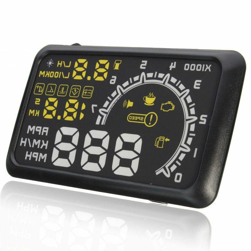 Blueskysea HUD Head Up Display Voiture OBD Headup Vitesse Smart Gauge Auto Hud Projecteur OBD2 2 II compteur de vitesse numérique Pare-Brise