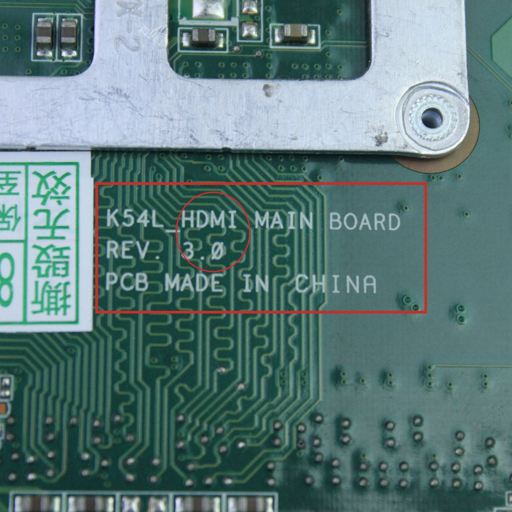 For ASUS K54L X54L X54H Laptop Motherboard rev2 0/3 0 Mainboard 60  N7BMB2200 B03-in Motherboards from Computer & Office