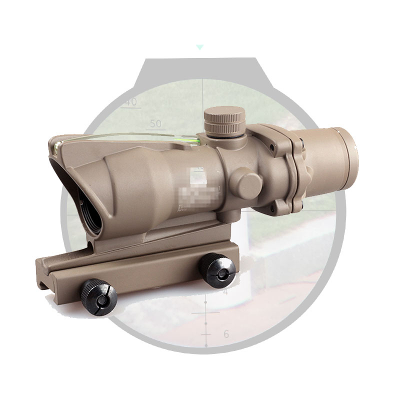 Tactical Optical Sight ACOG 4X32 Rifle scope Real Fiber Optics Red Green Illuminated Chevron Glass Etched Reticle 4x32 hunting real optical fiber scope red green glass etched bdc or chevron reticle sights