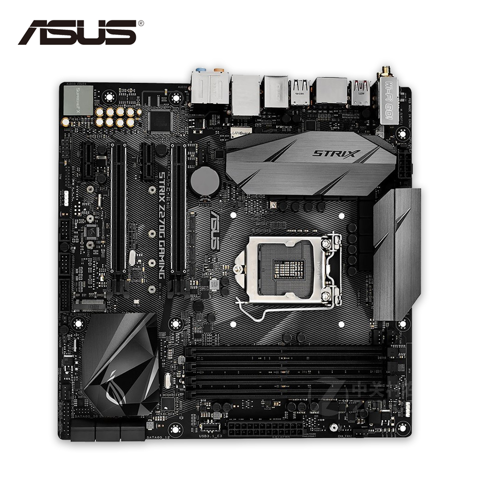лучшая цена Asus ROG STRIX Z270G GAMING Original New Desktop Motherboard Z270 Socket LGA 1151 i7 i5 i3 DDR4 64G SATA3 USB3.1 Micro-ATX