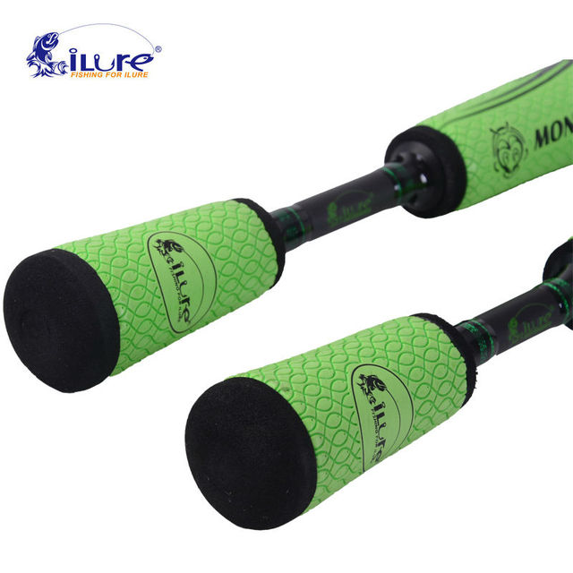 iLure 1.98m 4 section Medium Action carbon Rod Casting/Spinning fishing Lure Rod 10-18g lure weight 6-12LB line weight
