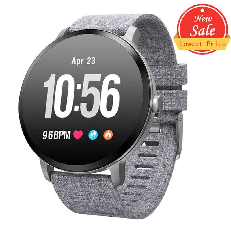 Dosmix V11 Smart Watch IP67 Waterproof Tempered Glass Activity Fitness Tracker Heart Rate Monitor Men Women Smartwatch