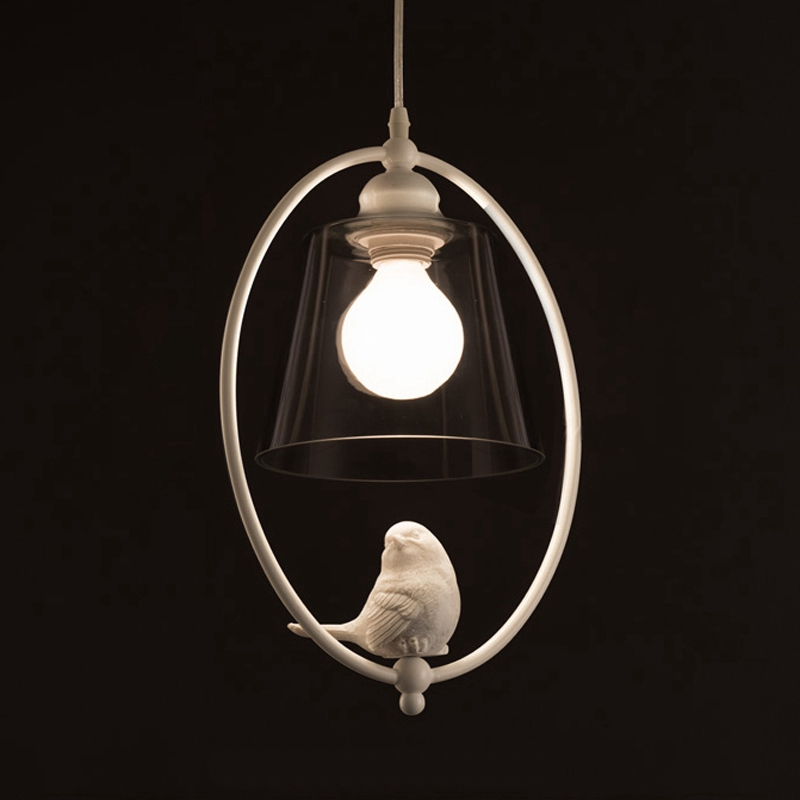 Nordic simple Creative Led Chandeliers Lamp American Country Birds Droplight Dining room Children room Bedroom Creative
