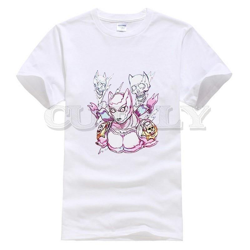 2019 New T shirt Jojo Bizarre Adventure Thsirt Japan Anime Cartoon Fashion Summer Dress Men Tee Clothing Funny T Shirt in T Shirts from Men 39 s Clothing