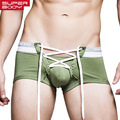 Mens Underwear Boxer Srhots Trunks Gay Penis Pouch Wonderjock Sexy Men Cotton Boxers U Convex Underwear Low Waist Designed New