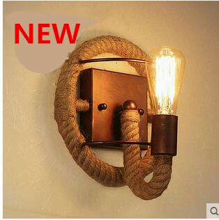 Free shipping BD080 creative Country style elegant hemp cord wall lamp free shipping 10pcs stk730 080